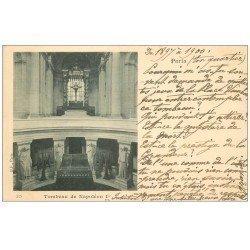 carte postale ancienne PARIS 07. Hôtel des Invalides Tombeau Napoléon Ier 1900