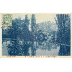 carte postale ancienne PARIS 07. Jardin Tour Eiffel 1907