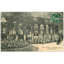 carte postale ancienne PARIS 08. Colonnade Parc Monceau 1908