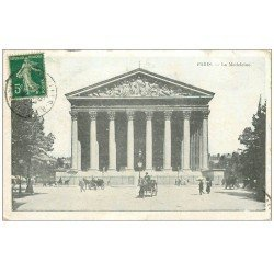 carte postale ancienne PARIS 08. Eglise Madeleine 1914