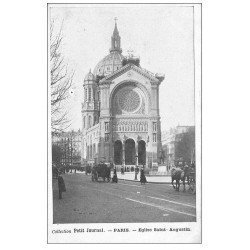 carte postale ancienne PARIS 08. Eglise Saint-Augustin. Petit Journal
