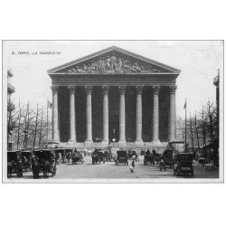 carte postale ancienne PARIS 08. La Madeleine 1919 carte photo émaillographie