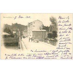 carte postale ancienne 10 BAR-SUR-SEINE. Entrée de la Ville 1902