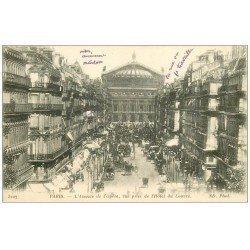 carte postale ancienne PARIS 09. Avenue de l'opéra