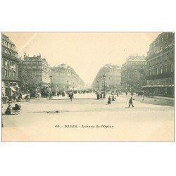 carte postale ancienne PARIS 09. Avenue de l'Opéra vers 1900