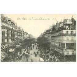 carte postale ancienne PARIS 09. Boulevard Montmartre 127
