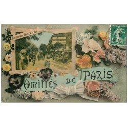 carte postale ancienne PARIS 09. Boulevard Montmartre 1909