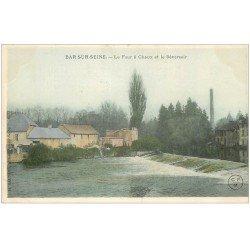 carte postale ancienne 10 BAR-SUR-SEINE. Four à Chaux et Déversoir