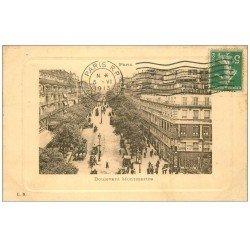 carte postale ancienne PARIS 09. Boulevard Montmartre 1913