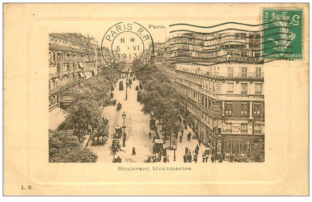 paris 09 boulevard montmartre 1913. Black Bedroom Furniture Sets. Home Design Ideas