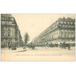 carte postale ancienne PARIS 09. Café de la Paix Boulevard Capucines vers 1900