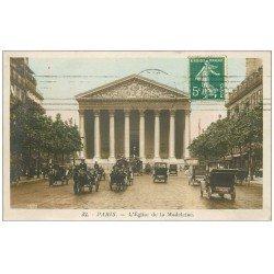 carte postale ancienne PARIS 09. Eglise de la Madeleine 1911