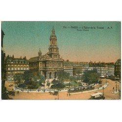 carte postale ancienne PARIS 09. Eglise de la Trinité 396