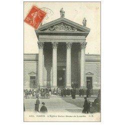 carte postale ancienne PARIS 09. Eglise Notre-Dame de Lorette 1908