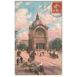 carte postale ancienne PARIS 09. Eglise Saint-Augustin 1907