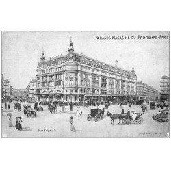 carte postale ancienne PARIS 09. Grands Magasins du Printemps