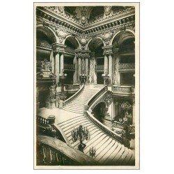 carte postale ancienne PARIS 09. L'Opéra Escalier 1937