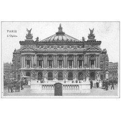 carte postale ancienne PARIS 09. L'Opéra et Métro avec Soldats Allemands