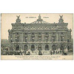 carte postale ancienne PARIS 09. L'Opéra et Métro et Bus Ford 110