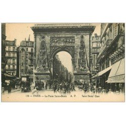 carte postale ancienne PARIS 10. Boulevard Porte Saint-Denis 138