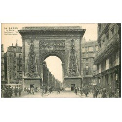 carte postale ancienne PARIS 10. Boulevard Porte Saint-Denis 16