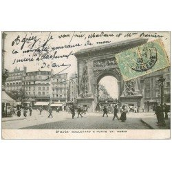 carte postale ancienne PARIS 10. Boulevard Porte Saint-Denis 1905