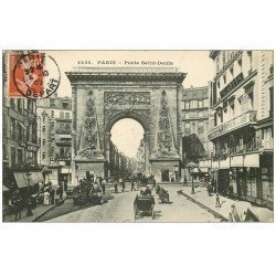 carte postale ancienne PARIS 10. Boulevard Porte Saint-Denis 1909