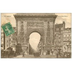 carte postale ancienne PARIS 10. Boulevard Porte Saint-Denis 1915
