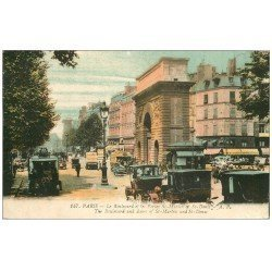 carte postale ancienne PARIS 10. Boulevard Porte Saint-Denis 1920