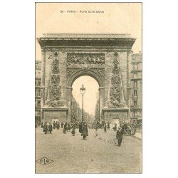 carte postale ancienne PARIS 10. Boulevard Porte Saint-Denis 1921