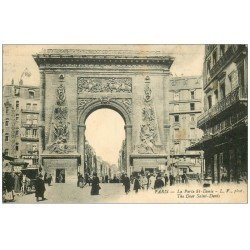 carte postale ancienne PARIS 10. Boulevard Porte Saint-Denis 1926