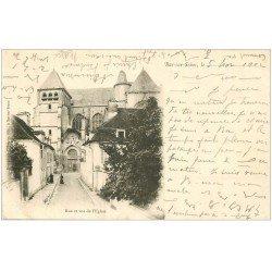carte postale ancienne 10 BAR-SUR-SEINE. Rue de l'Eglise 1902