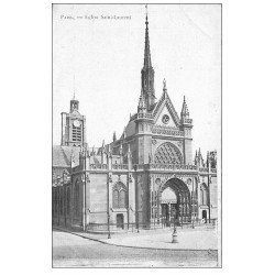 carte postale ancienne PARIS 10. Eglise Saint-Laurent