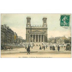 carte postale ancienne PARIS 10. Eglise Saint-Vincent de Paul 1910