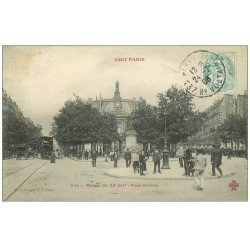 carte postale ancienne PARIS 11. La Mairie Place Voltaire 1906