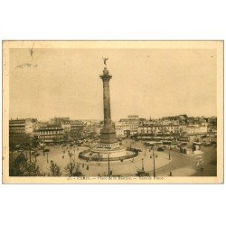 carte postale ancienne PARIS 11. Place de la Bastille 1934