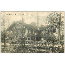 carte postale ancienne PARIS 12. Bois Vincennes. Le Restaurant de la Porte Jaune 1906