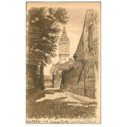 carte postale ancienne PARIS 12. Gare de Lyon et Passage Genty. Papier velin bords dentelés à la ficelle HLD n° 15