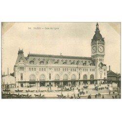carte postale ancienne PARIS 12. La Gare de Lyon 58