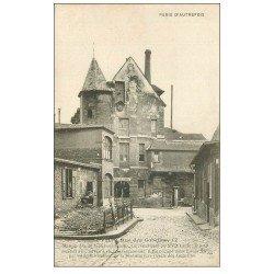 carte postale ancienne PARIS 13. Au 17 rue des Gobelins. Maison Reine Blanche