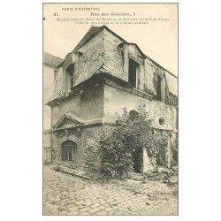 carte postale ancienne PARIS 13. Au 7 rue des Gobelins. Rendez-vous de Chasse de Julienne