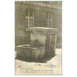 carte postale ancienne PARIS 13. Fontaine Manon Lescaut La Salpêtrière Boulevard de l'Hôpital