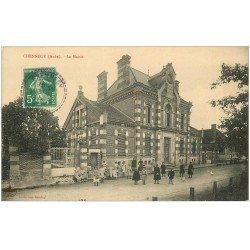 carte postale ancienne 10 CHENNEGY. La Mairie 1914