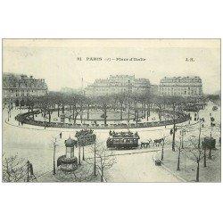 carte postale ancienne PARIS 13. Place d'Italie 1906