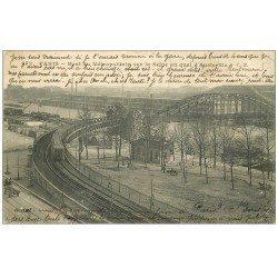 carte postale ancienne PARIS 13. Pont du Métropolitain au Quai d'Austerlitz 1908