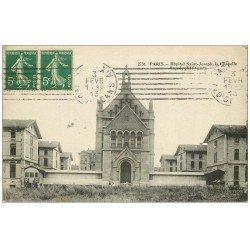 carte postale ancienne PARIS 14. Hôpital Saint-Joseph. Chapelle 1913