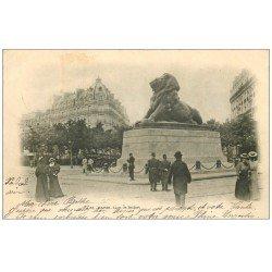 carte postale ancienne PARIS 14. Le Lion de Belfort 1901