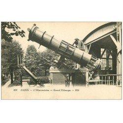 carte postale ancienne PARIS 14. L'Observatoire Grand Télescope