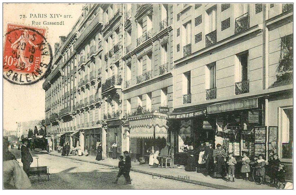 paris 14 magasin de cartes postales rue gassendi 1909 je sais tout. Black Bedroom Furniture Sets. Home Design Ideas