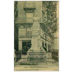 carte postale ancienne PARIS 14. Monument Théophile Roussel et Commerce Tedesco